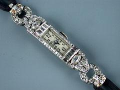 Art-Deco-Damenarmbanduhr