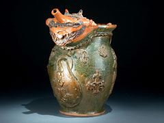Große Keramik-Schnabelkanne