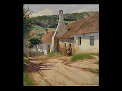 A. Overbeck Maler des 20. Jhdt. DIE DORFSCHMIEDE