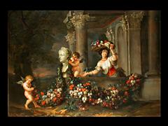Detailabbildung: Jan Pauwel Gillemans 1651 Antwerpen - 1704 Amsterdam und Hendrik Govaerts 1669 Malines - 1720 Antwerpen