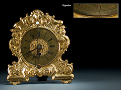 Zappler-Uhr sign. Schmidtbaur-Bamberg