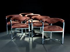 Satz von sechs modernen Design-Sesseln