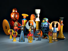 Museales, signiertes Künstler-Spielzeug