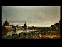Detailabbildung: Bernardo Bellotto (Belloto) - genannt Canaletto geb. 1720 Venedig - 1780 Warschau, Nachfolge