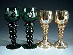 Römergläser konvolut vier römer gläser hel auctions