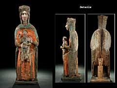 """Äusserst seltene und große """"Thronende Madonna"""" des 11. Jahrhunderts"""