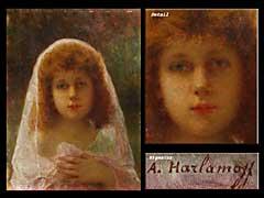 Alexej Harlamoff (Charmaloff) 1842/49 - 1915/22 Russischer Maler