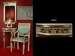 Klassizistische Louis XVI-Dielengarnitur