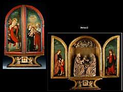Spätgotisches Reise- oder Hausaltärchen des beginnenden 16. Jahrhunderts