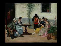 P. Lopez Spanischer Maler des 19. Jhdts.