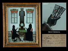 Seltenes künstlerbezeichnetes Würzburger Hinterglasbild von