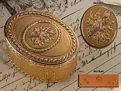 Seltene, französische Louis XVI-Golddose