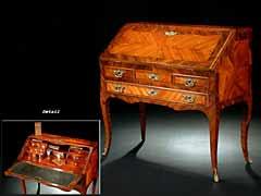 Kleiner Louis XV-Damensekretär