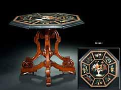 Tisch mit Pietra-dura-Marmorplatte