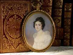 Miniaturportrait einer jungen Dame