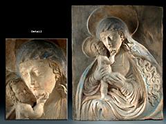 Italienisches Madonnenrelief in Terracotta