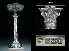 Tischlampe in Silber