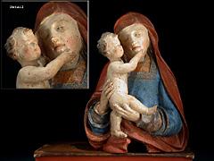 Madonnenbüste mit Jesuskind