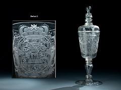 Nürnberger Glas-Deckelpokal