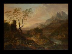 Maler des 18. Jhdts. In Art/Umkreis des Christian Georg Schütz
