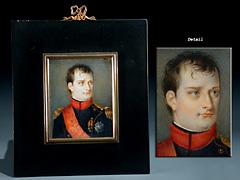 Elfenbeinminiaturporträt von Napoleon I