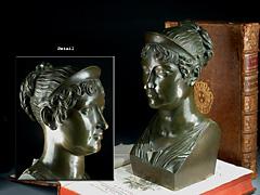Bronze Büste der Kaiserin Marie Louise