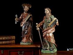 Paar Schnitzfiguren