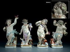 Porzellan-Figurengruppe der Vier-Elemente