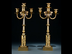Paar vergoldete Girandolen