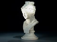 Bisquit-Porzellanbüste einer jungen Frau