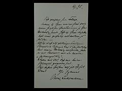 BRIEF VON MAX LIEBERMANN VOM 16.1.1895