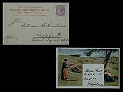 POSTKARTE MIT UMSCHLAG VON MAX LIEBERMANN VOM 25.3.1899