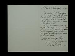 BRIEF VON MAX LIEBERMANN VOM 27.10.1913
