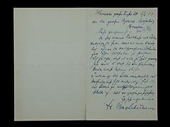 BRIEF VON MAX LIEBERMANN VOM 5.6.1913