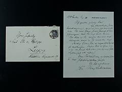 BRIEF VON MAX LIEBERMANN MIT UMSCHLAG UND MARKE VOM 5.3.1921