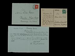 BRIEF VON MAX LIEBERMANN VOM 8.9.1929 UND EINE POSTKARTE VOM 17.9.1926