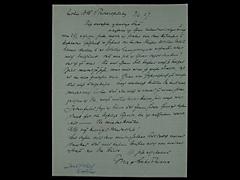 BRIEF VON MAX LIEBERMANN VOM 9.3.1927