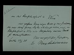 BRIEF VON MAX LIEBERMANN VOM 23.11.1928