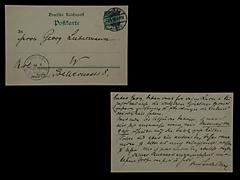 POSTKARTE VON MAX LIEBERMANN VOM 3.1.1899