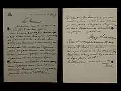 BRIEF VON MAX LIEBERMANN IN FRANZÖSISCHER SPRACHE VOM 20.4.1899
