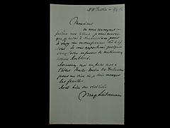 BRIEF VON MAX LIEBERMANN VOM 21.4.1912 IN FRANZÖSISCHER SPRACHE