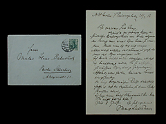 BRIEF VON MAX LIEBERMANN VOM 21.2.1915 MIT INTAKTEM KUVERT