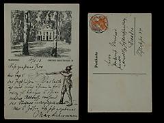 BILDPOSTKARTE VON MAX LIEBERMANN VOM 10.5.1918