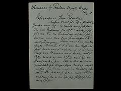 BRIEF VON MAX LIEBERMANN VOM 20.5.1918