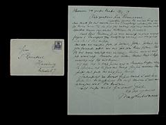 BRIEF VON MAX LIEBERMANN MIT UMSCHLAG UND MARKE VOM 17.5.1919