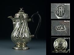 Selten feine, Silber-Kaffeekanne