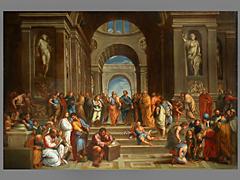 Nach Raphaels Fresko in der Stanza della Segnatura