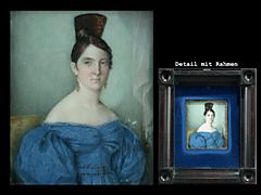 Miniatur mit dem Portrait einer jungen Frau