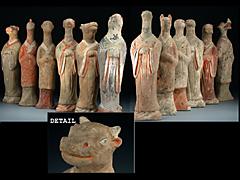 12 Grabwächterfiguren der Sui-Dynastie