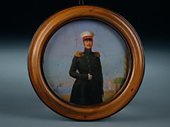 Rundminiatur des Zaren Nikolaus I. von Russland